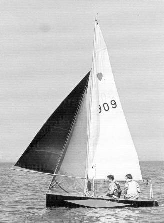 Sail No 0909 showing spinniker shape
